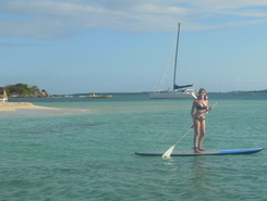Ilet Pinel paddle board spot in Sint Maarten