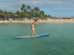 Ilet Pinel sitio de stand up paddle / paddle surf en Sint Maarten