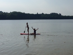 Lac de Butgenbach paddle board spot in Belgium