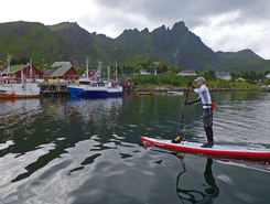 Lofoten sitio de stand up paddle / paddle surf en Noruega