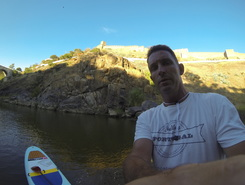 Mertola Castle paddle board spot in Portugal