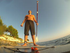 Spiaggia di Calamosca spot de stand up paddle en Italie
