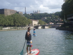 SUP in Lyon spot de stand up paddle en France