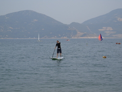 Stanley Main Beach paddle board spot in Hong Kong SAR China