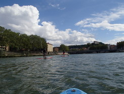 SUP in Lyon paddle board spot in France