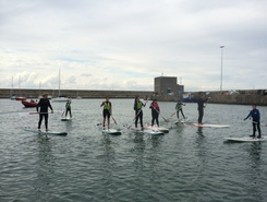 Dun Laoghaire harbour paddle board spot in Ireland
