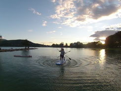 Annecy - plage d'Albigny sitio de stand up paddle / paddle surf en Francia