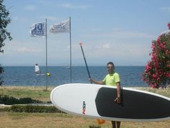 Aggelohori paddle board spot in Greece