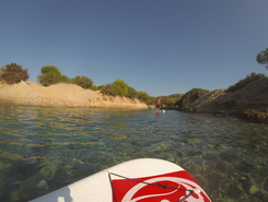 Stagno Sa Curcurica paddle board spot in Italy