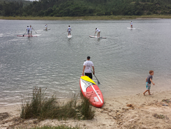 Lagoa de Obidos  sitio de stand up paddle / paddle surf en Portugal