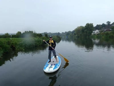 Training ground paddle board spot in United Kingdom