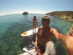 Spiaggia di Coacuaddus paddle board spot in Italy