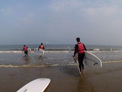 "Westende Beachclub ""De Kwinte"" spot de stand up paddle en Belgique"