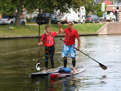 Prinsentuin paddle board spot in Netherlands