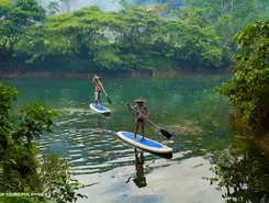 Abatan River paddle board spot in Philippines