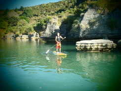 Raglan Pancake Rocks paddle board spot in New Zealand