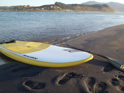 Raglan Harbour paddle board spot in New Zealand