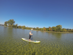 Cass lake paddle board spot in United States