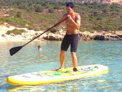 Loutraki Bay paddle board spot in Greece
