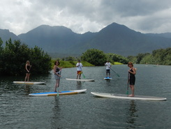 Hanalei River, Kauai paddle board spot in United States
