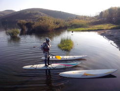 Mladost Lake paddle board spot in Macedonia