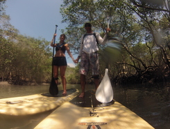 Barra de Guaratiba paddle board spot in Brazil