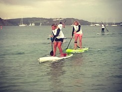 Morgat paddle board spot in France