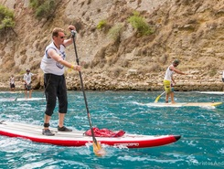Corinth Canal paddle board spot in Greece