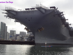 Midway aircraft carrier, downtown San Diego sitio de stand up paddle / paddle surf en Estados Unidos
