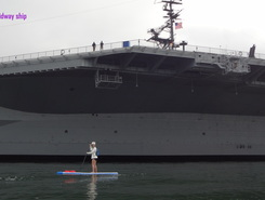 Midway aircraft carrier, downtown San Diego paddle board spot in United States