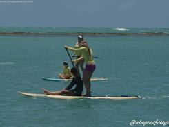 remada rosa spot de stand up paddle en Brésil