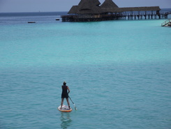 Hideaway  paddle board spot in Tanzania