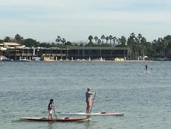 Mission Bay paddle board spot in United States