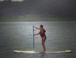 Arenal Lake paddle board spot in Costa Rica