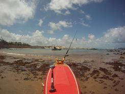 Praia de Tabatinga paddle board spot in Brazil