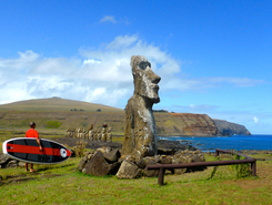 Rapa Nui paddle board spot in Chile