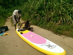 Jordan River paddle board spot in Vanuatu