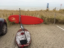 Maasvlakte paddle board spot in Netherlands