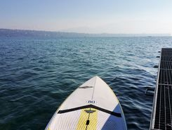 Le Vengeron paddle board spot in Switzerland