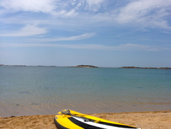 Plage de Goas Treiz spot de stand up paddle en France