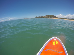 Setiba paddle board spot in Brazil