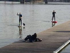 La seine sitio de stand up paddle / paddle surf en Francia
