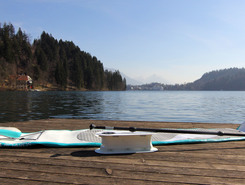 Bled paddle board spot in Slovenia