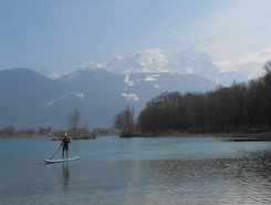 lac de passy  spot de stand up paddle en France