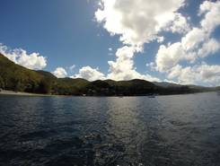 Malendure paddle board spot in Guadeloupe