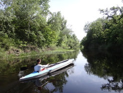 Oril' river paddle board spot in Ukraine