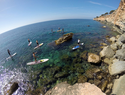 S' Estanyol paddle board spot in Spain