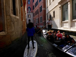 Venice paddle board spot in Italy