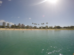 Ala Moana paddle board spot in United States