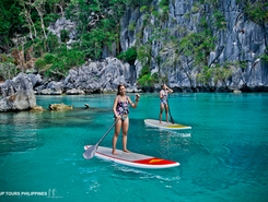 Coron paddle board spot in Philippines